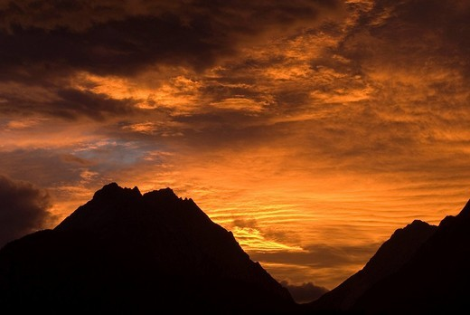 Mt  Bettelwurf and Vomperloch, Tirol, Austria : Stock Photo