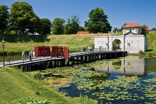 Gate at Kastellet Citadel in Copenhagen, Denmark, Scandinavia, Europe : Stock Photo
