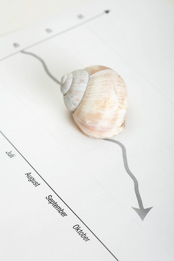 Snail pace market trend : Stock Photo
