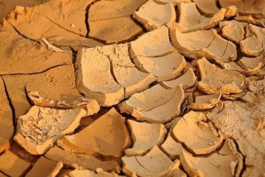 Soil erosion, diamond-mine, Cempaka, South-Kalimantan, Indonesia : Stock Photo