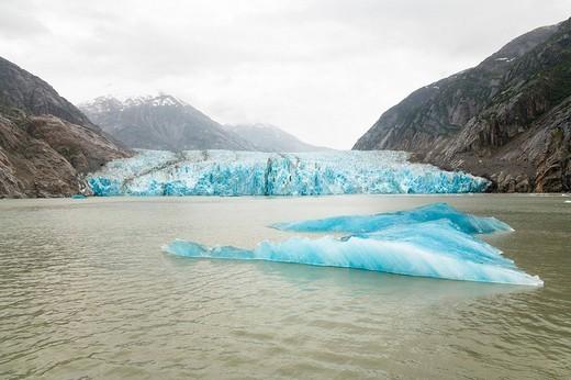 Dawes Glacier, Endicott Arm, Inside Passage, Southeast Alaska, Alaska, USA, North America : Stock Photo
