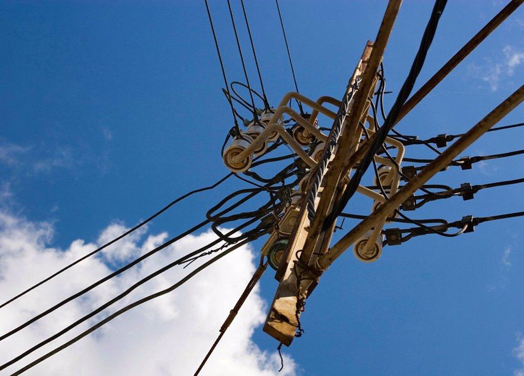 Spanish power line : Stock Photo