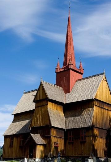 Stave church, Ringebu, Norway, Scandinavia, Europe : Stock Photo