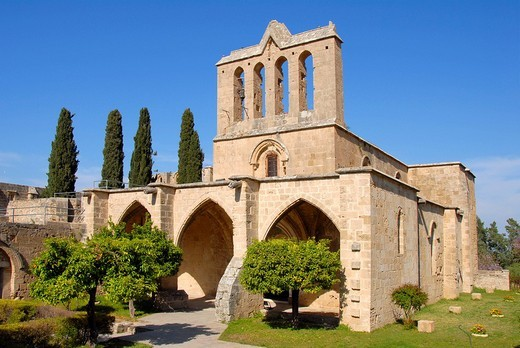Old monastery Bellapais North Cyprus : Stock Photo