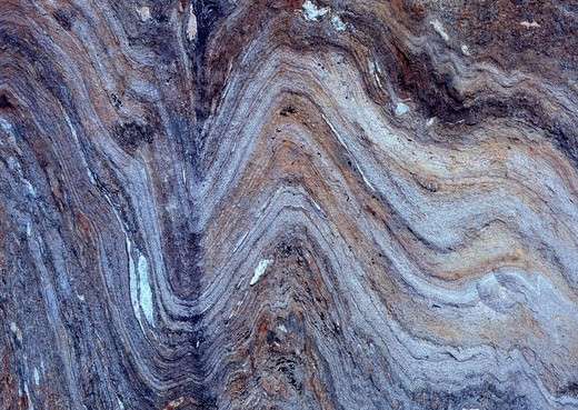 Textured, layered rock surface, Tirol, Austria : Stock Photo