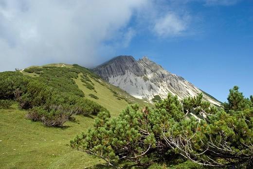 Stock Photo: 1848R-392091 Mt  Mondscheinspitze, Karwendel Range, Tirol, Austria