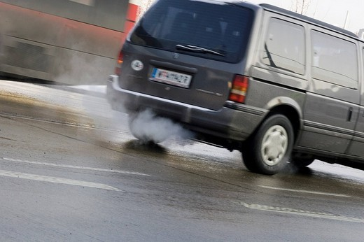 Stock Photo: 1848R-392155 Car emissions