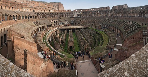 Stock Photo: 1848R-393683 Interior view of the Colosseum, Rom, Italy