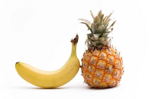 Pineapple and banana : Stock Photo