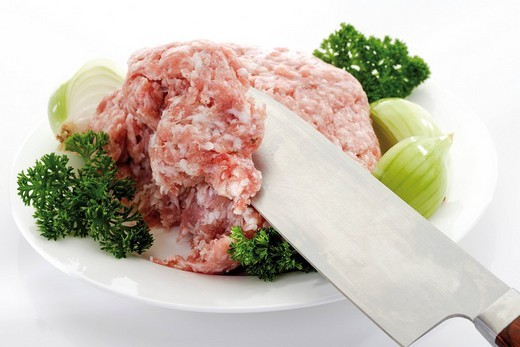 Seasoned minced pork : Stock Photo