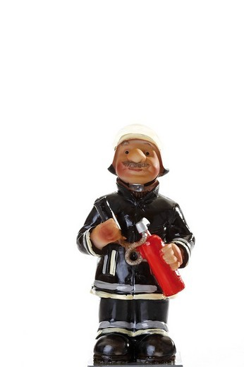 Stock Photo: 1848R-394256 Decorative fireman figure
