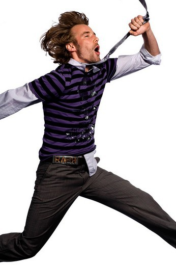 Stock Photo: 1848R-394336 Hipster, jump