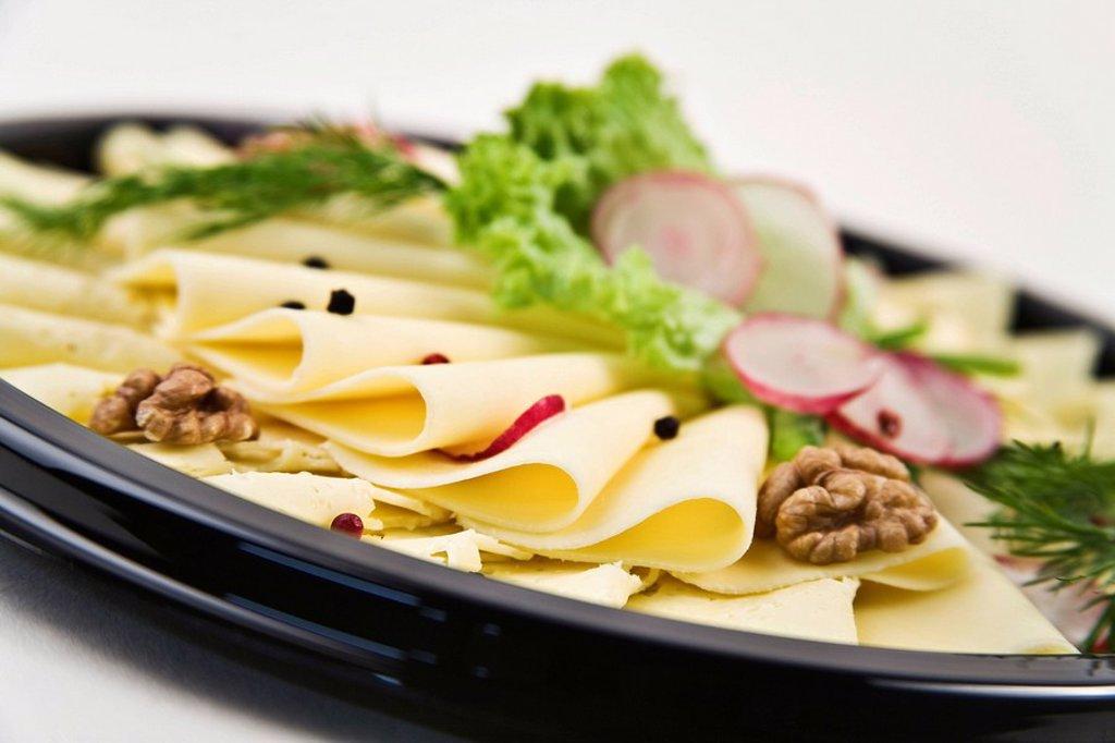 Stock Photo: 1848R-395127 Cheese platter