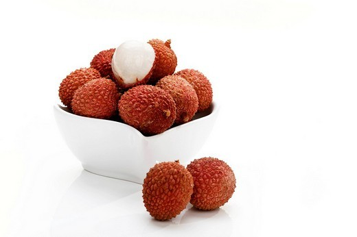 Stock Photo: 1848R-395472 Lychees