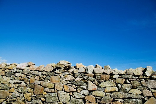 Wall Normandy France : Stock Photo