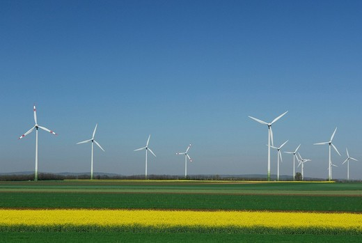 Wind farm, Weiden, Burgenland, Austria : Stock Photo