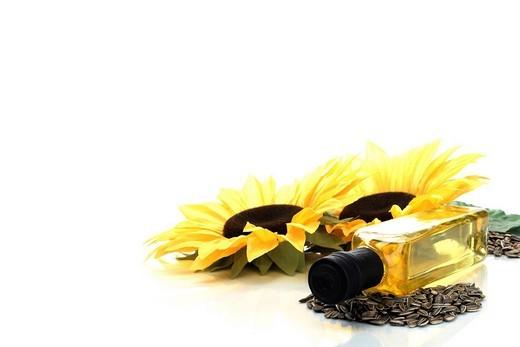 Stock Photo: 1848R-395906 Sun flower oil