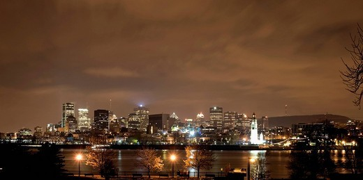 Montreal skyline, Montreal, Quebec, Canada : Stock Photo