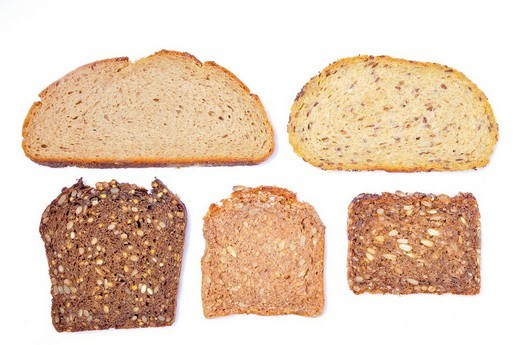 Various kinds of bread : Stock Photo