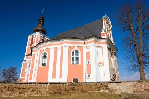 Church of St. Mary Magdalene, Bozanov, Nachod district, East Bohemia, Czech Republic, Europe : Stock Photo