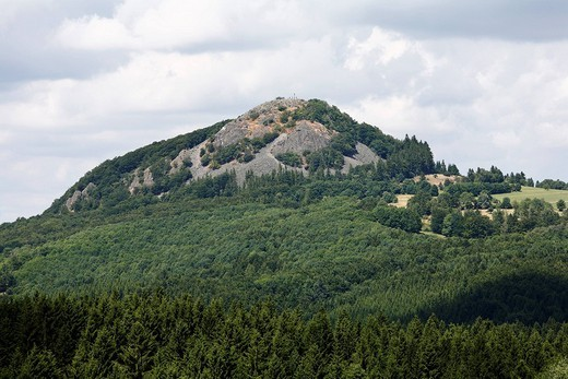 Mt  Milseberg, Hessische Rhoen, Hesse Rhoen Mountains, Hesse, Germany, Europe : Stock Photo