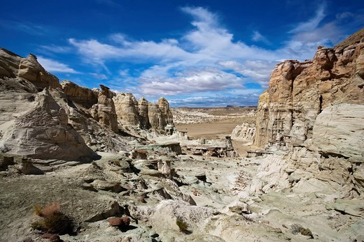 Hoodoos in the White Valley, rock formation, Utah, America, United States : Stock Photo
