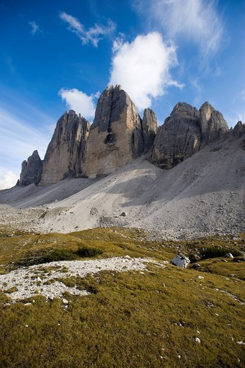 The Three Peaks, Dolomites, Alto Adige, Italy, Europe : Stock Photo