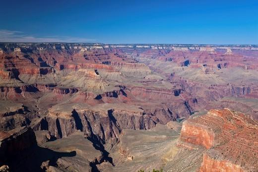 View over Colorado River, Grand Canyon National Park, South Rim, Colorado Plateau, Arizona, USA : Stock Photo