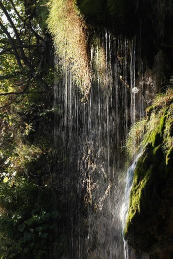 Stock Photo: 1848R-505200 Waterfall, Plitvice Lakes National Park, Plitvice Jezera, Lika_Senj, Croatia, Europe