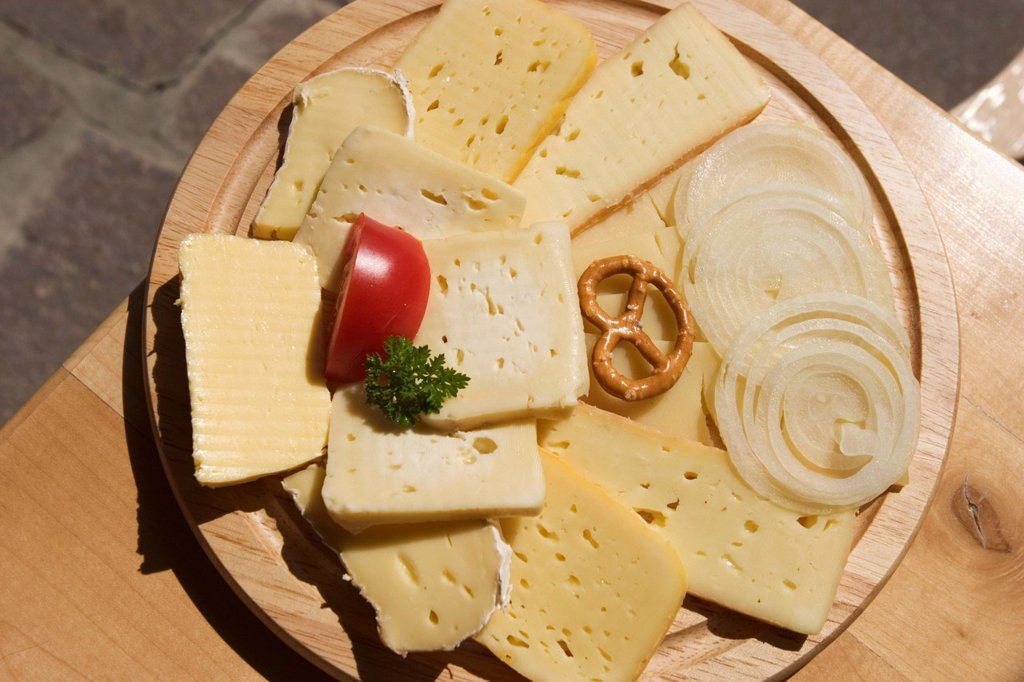 Stock Photo: 1848R-505798 Cheeseboard _ Allgäu Bavaria Germany