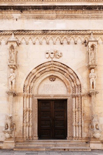 Stock Photo: 1848R-505948 Portal of the Cathedral of St. James, Katedrala sv. Jakova, Sibenik, Dalmatia, Adriatic Sea, Croatia, Europe