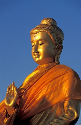 Buddha statue in the morning light, Krabi Province, Thailand, Southeast Asia : Stock Photo