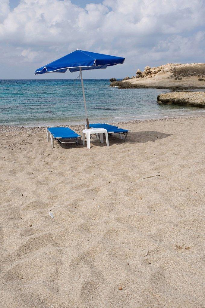 Beach in Lefkos, Karpathos island, Aegean Islands, Aegean Sea, Dodecanese, Greece, Europe : Stock Photo