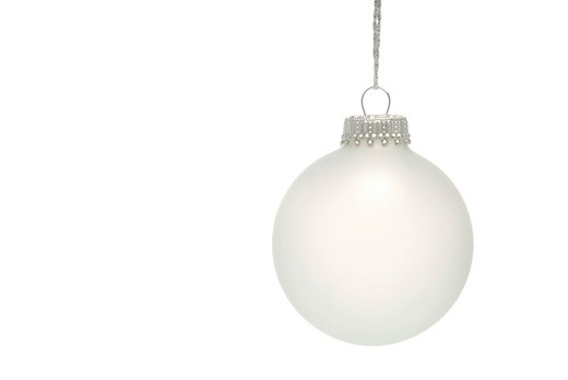 White Christmas bauble : Stock Photo
