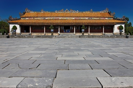 Stock Photo: 1848R-507262 Entrance area of the Imperial Palace in Hue, Vietnam, Southeast Asia