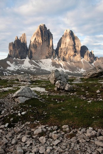 Three Peaks, Alto Adige, Italy, Europe : Stock Photo