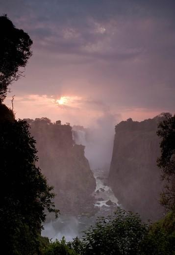Devil´s Cataract, Victoria Falls, Victoria Falls National Park, Zimbabwe, Africa : Stock Photo