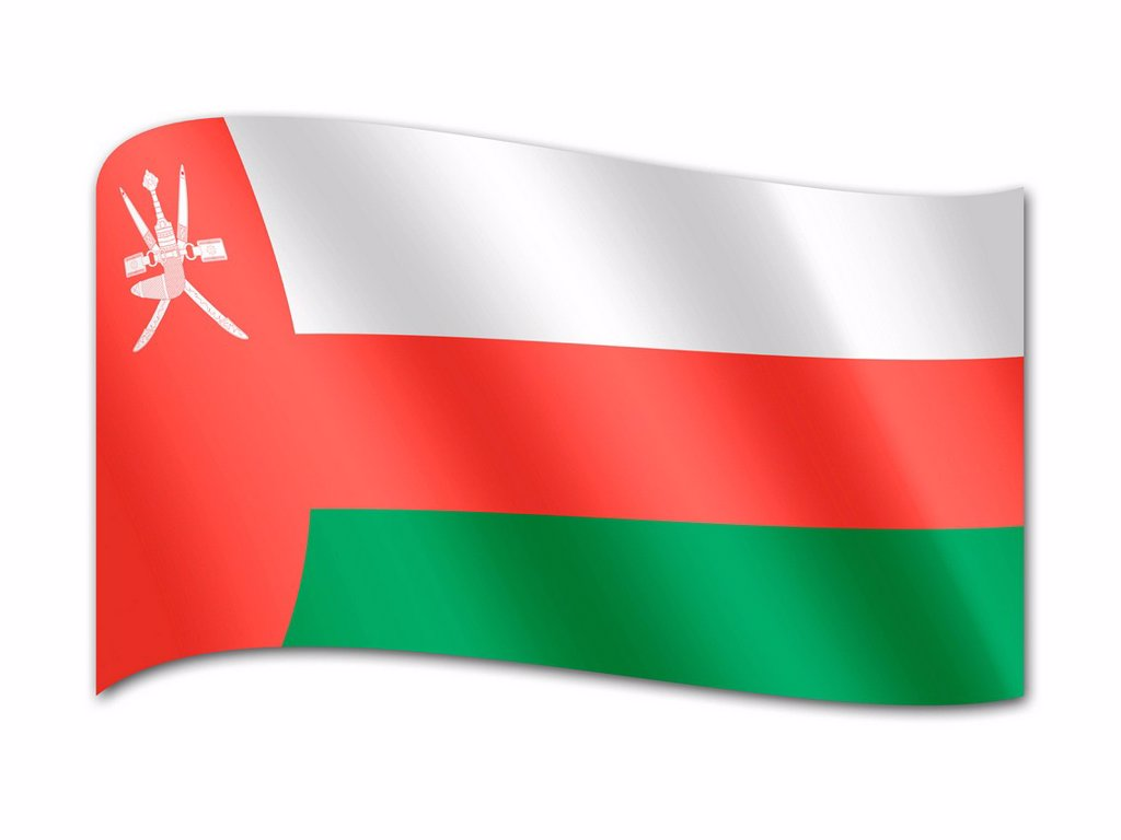 Flag of Oman : Stock Photo