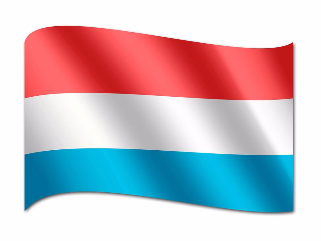 Flag of Luxembourg : Stock Photo