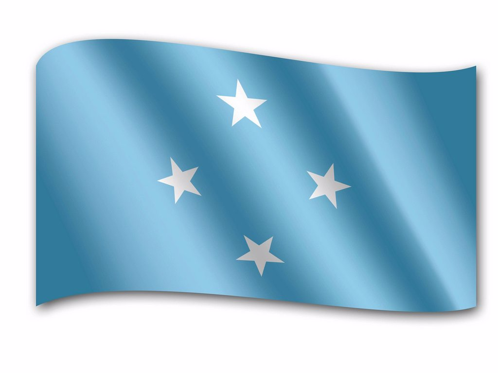 Flag of the Federated States of Micronesia : Stock Photo