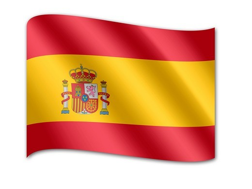 Stock Photo: 1848R-511011 Flag of Spain