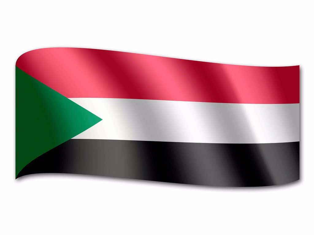 Flag of Sudan : Stock Photo