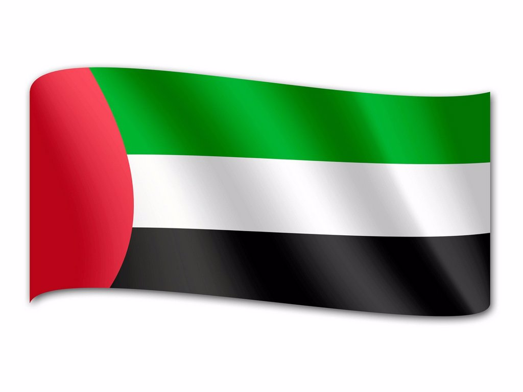 Flag of the United Arab Emirates : Stock Photo