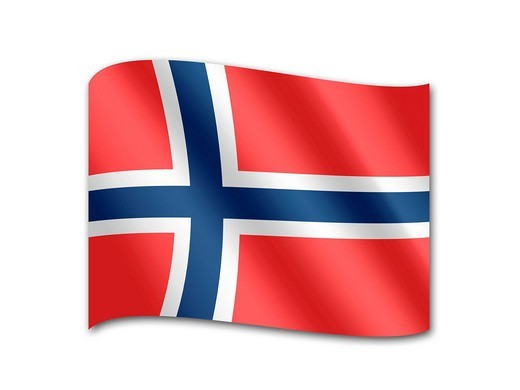 Flag of Norway : Stock Photo