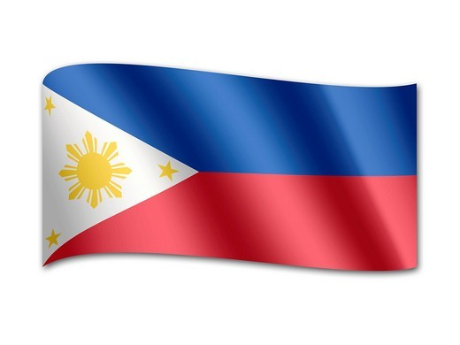 Stock Photo: 1848R-511059 Flag of the Philippines
