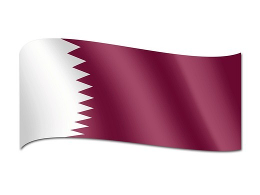 Stock Photo: 1848R-511062 Flag of Qatar