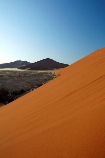 Dune, Sossusvlei, Namib_Naukluft National Park, Namibia, Africa : Stock Photo