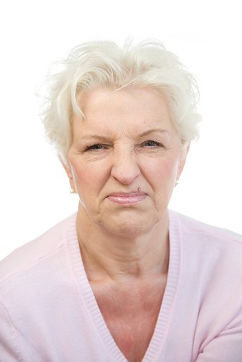 Stock Photo: 1848R-511773 Woman, 60, making a face