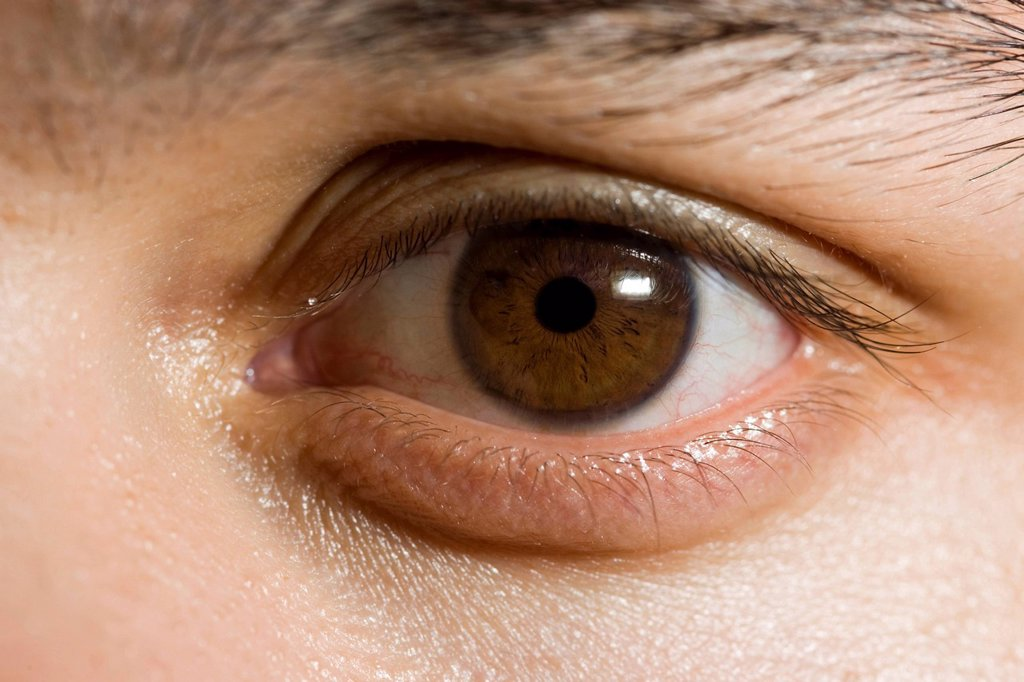 The human eye in close_up : Stock Photo