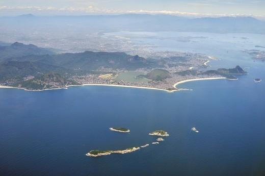 Aerial view, Rio de Janeiro, Brazil, South America : Stock Photo